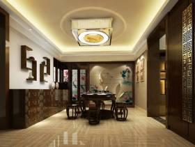 开放式大空间传统餐厅家具图片