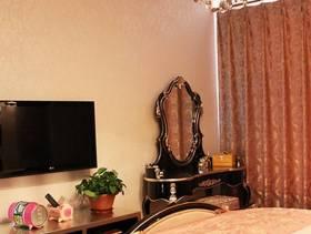 新古典风格三居室卧室电视墙装修效果图,新古典风格吊顶图片