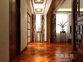 300m²别墅中式古典风格卧室阳台装修效果图,中式古典风格花架图片