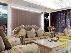 欧式风格四居室客厅沙发背景墙图片