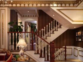 480㎡别墅欧式古典风格复式楼梯装修效果图-欧式古典风格置物台图片