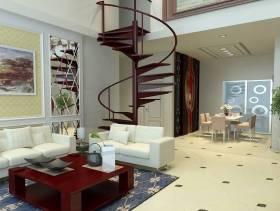 loft新中式风格客厅沙发背景墙装修效果图,loft新中式风格茶几图片