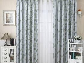 简欧风格阳台窗帘杆窗帘装修效果图-简欧风格储物柜图片