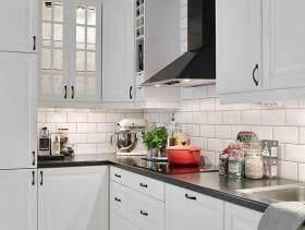 67㎡北欧风格厨房装修图片-北欧风格整体橱柜图片