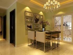 146㎡三居室现代简约风格餐厅背景墙装修效果图-现代简约风格餐桌餐椅图片