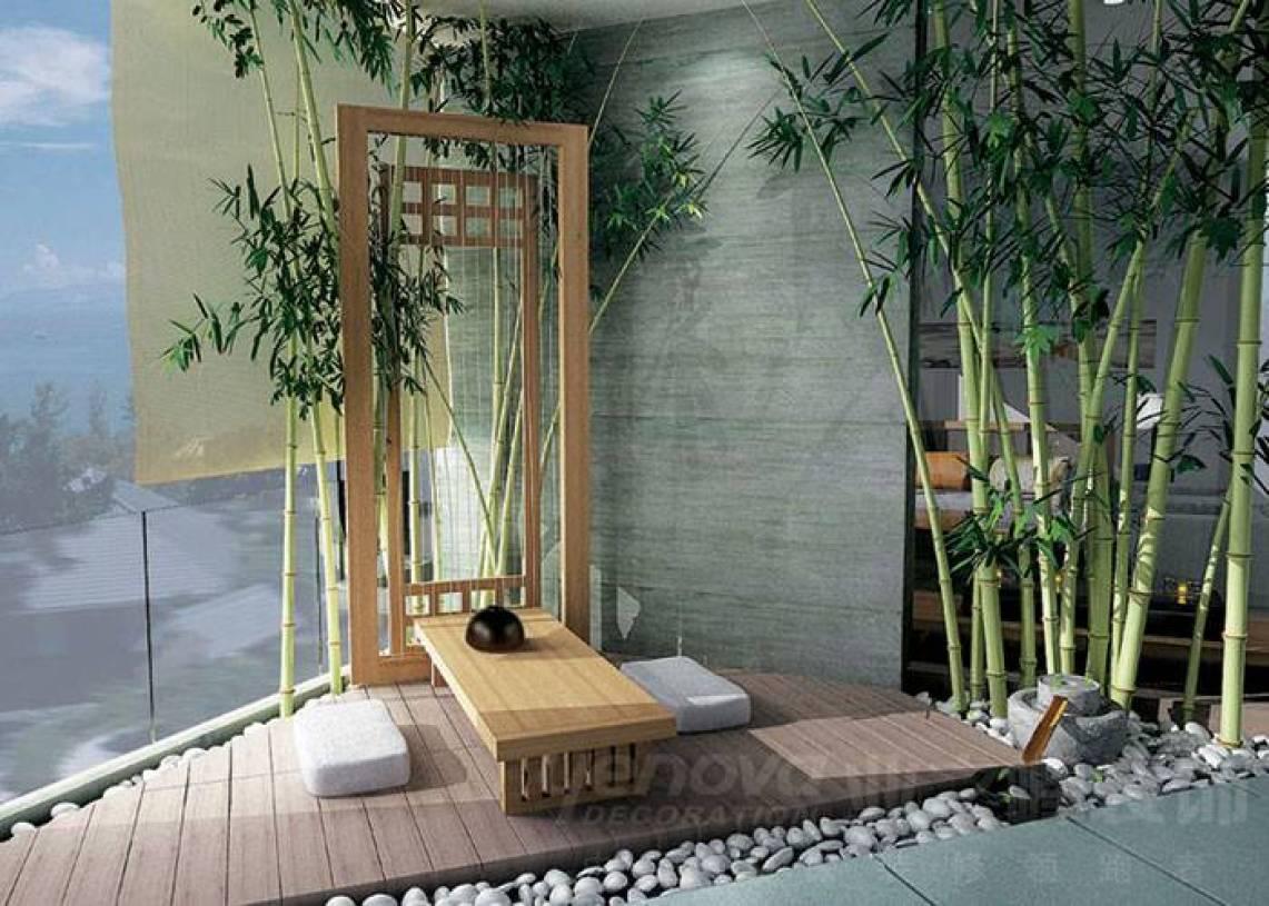 新中式风格阳台装修效果图