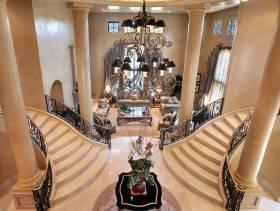 欧式风格复式楼梯装修图片