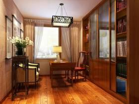 中式风格书房壁柜装修效果图