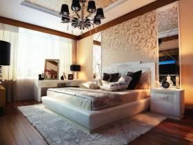 欧式风格别墅主卧室吊顶装修效果图