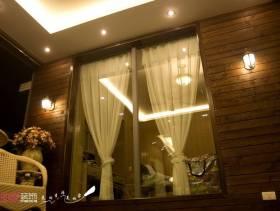 简欧风格大户型阳台装修效果图,简欧风格窗帘图片