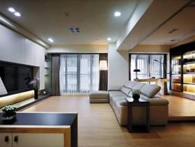 129㎡三居室北欧风格客厅电视背景墙装修图片-北欧风格沙发图片