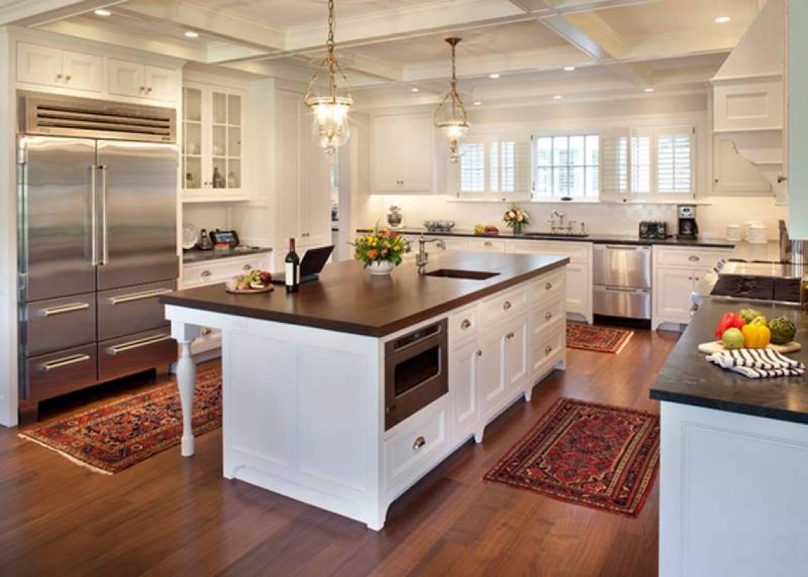简约欧式风格开放式厨房吊顶装修图片-简约欧式风格橱柜图片
