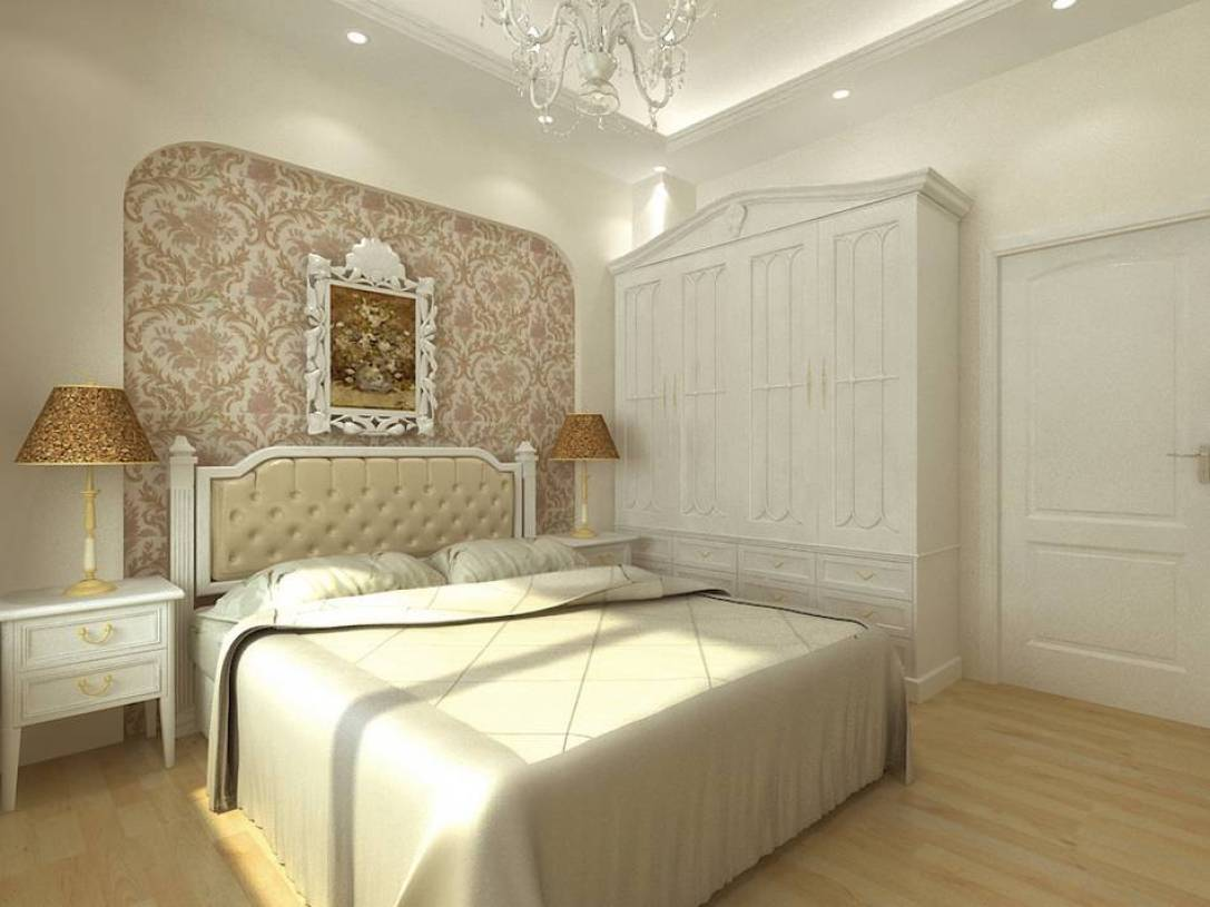 简约欧式风格卧室背景墙装修效果图-简约欧式风格衣柜