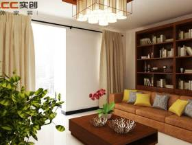 72平米二居室简约风格客厅沙发背景墙装修效果图-简约风格茶几图片