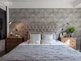 小卧室床头背景墙纸装修图片