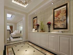 简约欧式风格走廊墙面装饰装修图片-简约欧式风格家居摆件图片