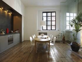 loft现代简约风格餐厅吊顶装修图片,现代简约风格餐桌椅图片