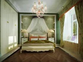 90㎡小户型简欧风格卧室背景墙装修效果图-简欧风格床头柜图片