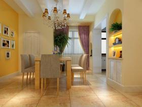 现代简约风格餐厅照片墙装修效果图-现代简约风格水晶吊灯图片