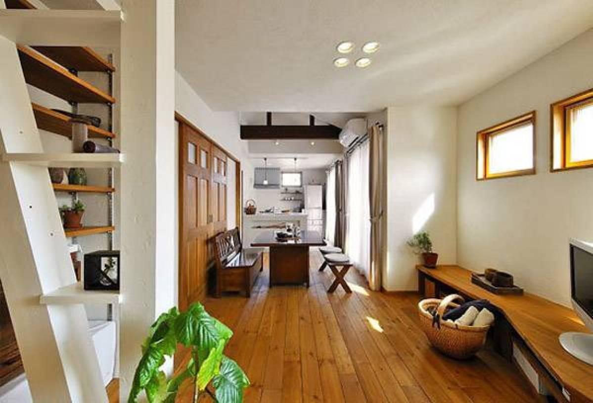 简约风格长方形小户型过道装修效果图-简约风格实木家具图片