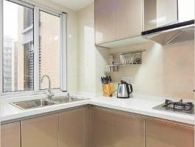 三居厨房转角橱柜图片