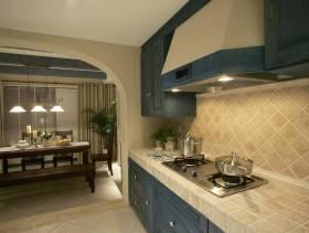 145㎡大户型地中海风格厨房墙面修效果图-地中海风格橱柜图片