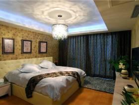 现代简约风格卧室背景墙装修图片