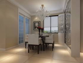 140㎡三居室现代风格餐厅吊顶装修效果图-现代风格餐桌椅图片