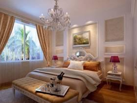 欧式风格二居室卧室背景墙装修效果图,欧式风格吊顶图片