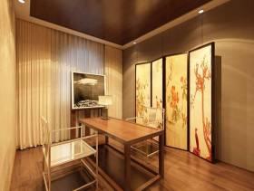 110㎡别墅新中式风格茶室窗帘装修效果图-新中式风格椅凳图片