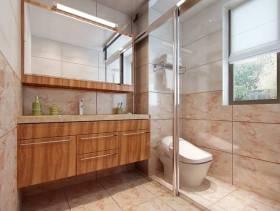 简约风格洗手间玻璃隔断装修效果图