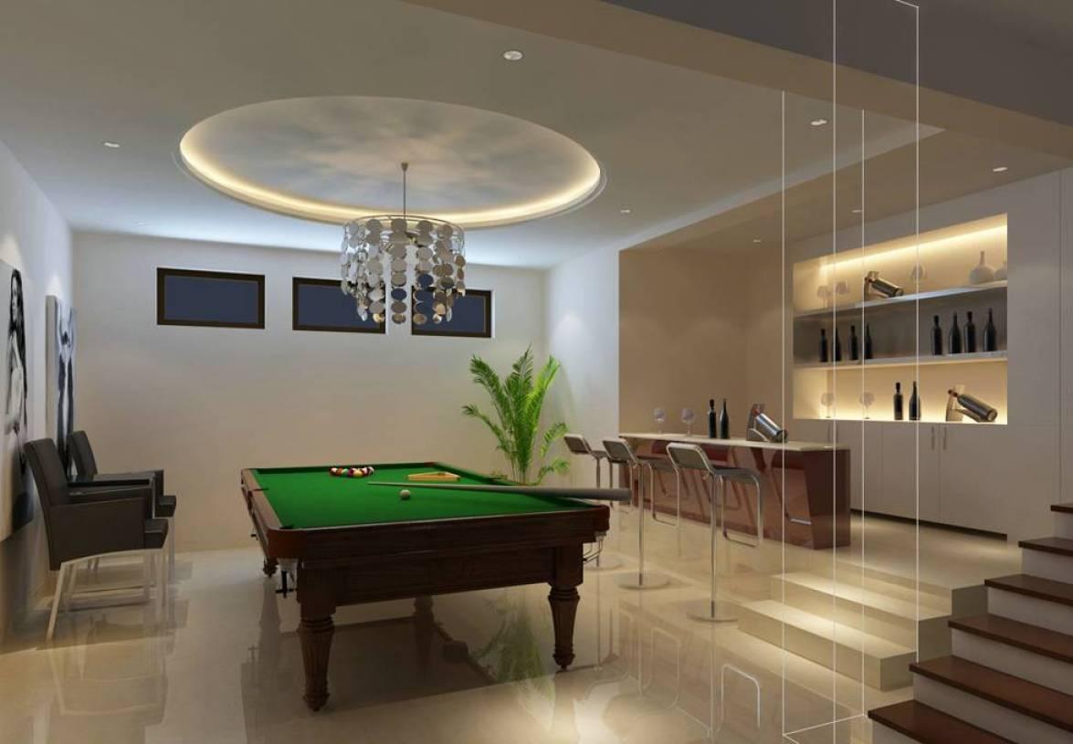 简约风格地下室多功能厅装修效果图-简约风格台球桌图片图片