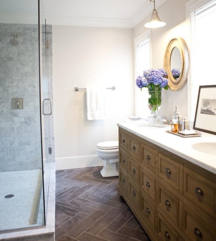 英式乡村风格浴室装修图片-英式乡村风格面盆图片