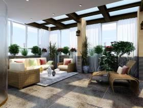 现代简约起居室效果图