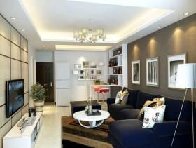 小户型客厅沙发背景墙纸装修效果图