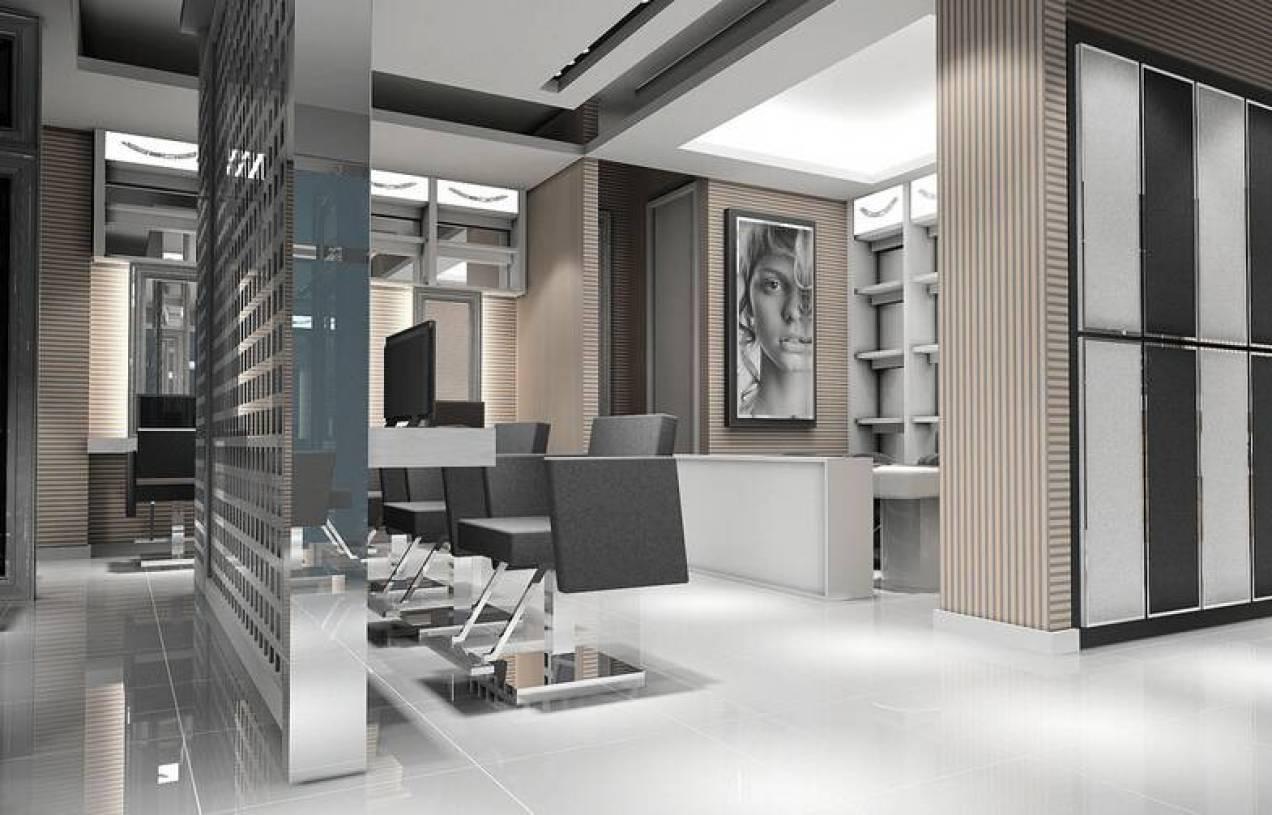 现代风格发廊隔断装修效果图-现代风格转椅图片