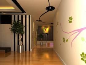 现代风格小户型走廊装修效果图