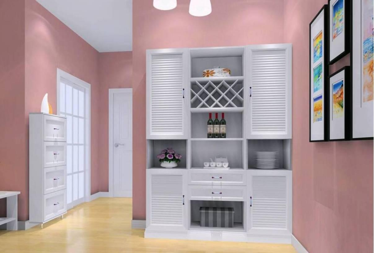89m二居室简欧风格餐厅装修效果图-简欧风格酒柜图片