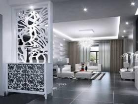 现代风格别墅客厅玄关装修效果图