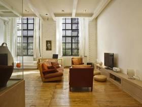 loft现代简约风格客厅电视背景墙装修图片,现代简约风格多人沙发图片
