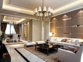 现代简约风格客厅沙发背景墙装修效果图-现代简约风格茶几图片