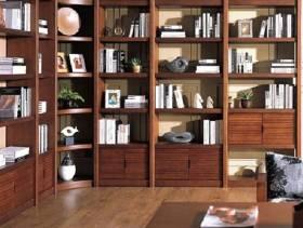 中式风格书房开放式书柜图片