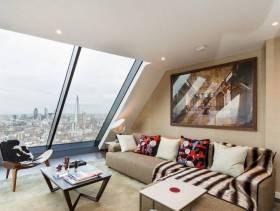 现代简约风格小户型小客厅沙发背景墙装修图片-现代简约风格茶几图片