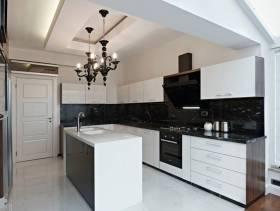 300㎡高档别墅现代风格厨房吊顶装修效果图-现代风格橱柜台面图片