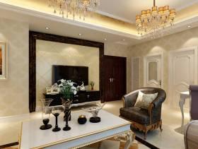 欧式风格三居室客厅电视墙效果图,欧式风格吊顶图片