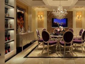 简欧风格餐厅背景墙装修效果图-简欧风格餐椅图片