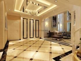 197m²复式楼欧式风格入户大厅吊顶装修效果图,欧式风格吊灯图片
