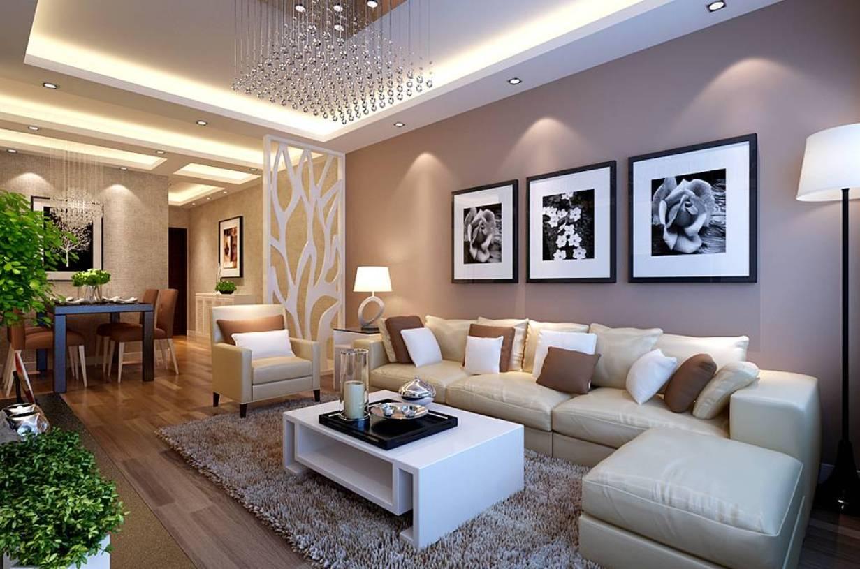 现代简约风格二居室客厅沙发背景墙装修效果图,现代简约风格客厅地毯
