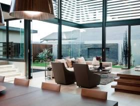 现代简约别墅客厅布局图片