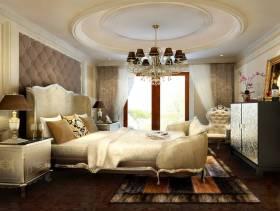 136㎡三居简欧风格卧室背景墙装修效果图-简欧风格卧室柜子图片